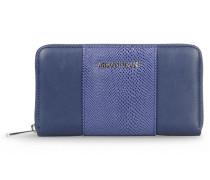 Brieftasche mit Rundum-Reissverschluss und Eidechsendruck