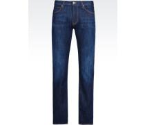 J84 Slim Fit-Jeans mit Dunkler Waschung