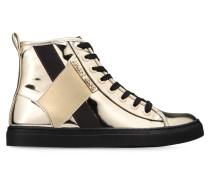 High-Top Sneaker in Spiegelglanzoptik