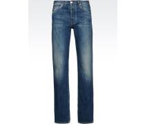 J91 Regular Fit-Jeans, Mittelblaue Waschung