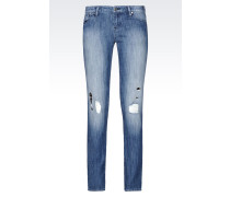 J06 SKINNY JEANS IN MITTLERER WASCHUNG
