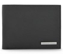 Aufklappbares Portemonnaie mit Saffian-Prägung