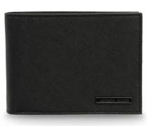 Aufklappbares Portemonnaie aus Kunst-Saffian