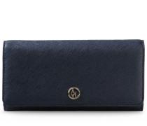 Portemonnaie mit Druckknopfverschluss aus Saffianlederimitat