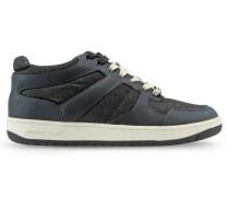 Sneaker aus Denim und Leder