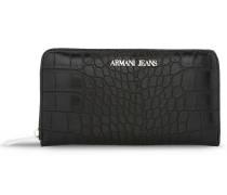 Brieftasche mit Rundum-Reissverschluss und Kokosnussdruck