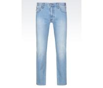 J45 Slim Fit-Jeans mit Heller Waschung