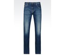 J45 Slim Fit-Jeans mit Mittelblauer Waschung