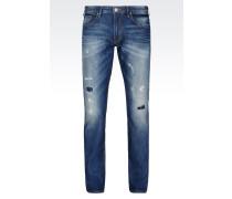 J06 Slim Fit-Jeans in Mittlerer Waschung