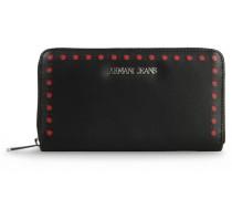 Brieftasche mit Rundum-Reissverschluss und Logo