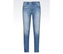 J74 SKINNY JEANS IN HELLER WASCHUNG