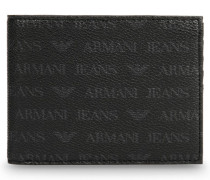 Aufklappbares Portemonnaie mit Logo-Muster
