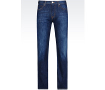 J74 Slim Fit-Jeans mit Dunkler Waschung