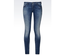 J06 SKINNY JEANS IN HELLER WASCHUNG
