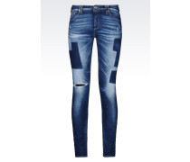 J28 SKINNY JEANS IN MITTLERER WASCHUNG