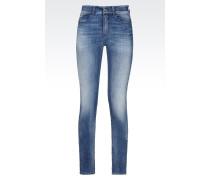 J18 Slim Fit-Jeans mit Heller Waschung