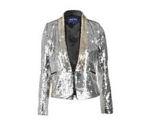 April, May Tuxedo Jacket DALTON sequin silver
