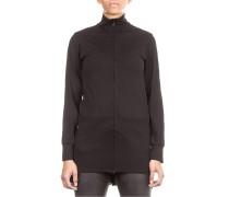 Damen Sweat Mantel LUX TRACK schwarz