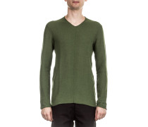 Herren Langarm Pullover LA10PO grün