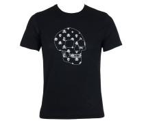 Herren T-Shirt SKULL schwarz Gr. L