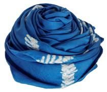 Seide Tuch blau weiß