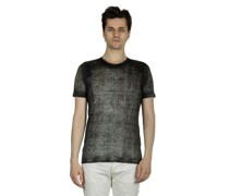 Leinen T-Shirt mit gebürstetem Effekt anthrazit