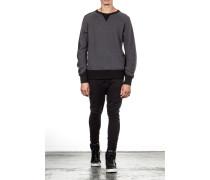 Woll Sweatshirt M WOOL CREW mit Raglanarm black