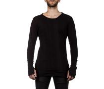 Thom Krom Herren Langarm Shirt Layer Look schwarz