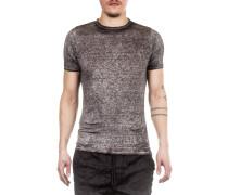 Leinen T-Shirt grau