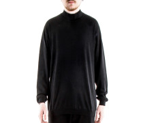 Rollkragen Pullover schwarz