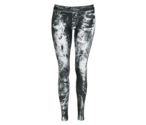 Damen Leggings black/white