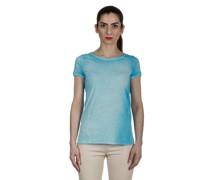 T-Shirt aus feiner Baumwolle blau