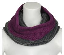 Rund Schal Wolle grau/violett