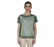 Oversized T-Shirt aus feinem Material grün