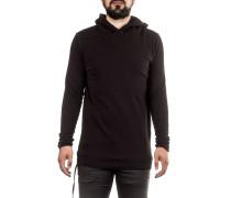 Herren Sweatshirt mit Kapuze schwarz