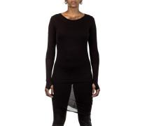 Damen Jerseykleid Layer Look schwarz