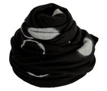 Kaschmir Schal Shibori schwarz grau