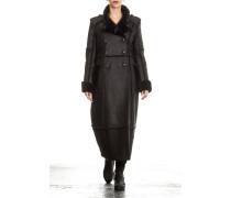 Damen Lammfell Mantel schwarz Gr. 38
