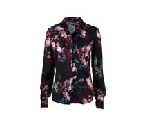 Just Cavalli Bluse floral print dunkelrot