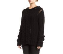 Rundhals Pullover schwarz