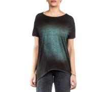 Damen Oversized Shirt schwarz grün