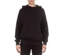 Damen Sweatshirt mit Kapuze oversized schwarz