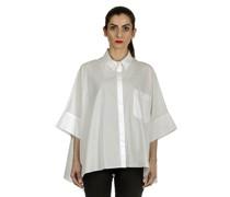 Ausgestellte Bluse weiß