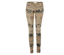 THE ANKLE SKINNY vintage tribal destroy