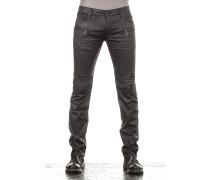 Robin`s Jean Herren Jeans MOTARD Biker Style schwarz
