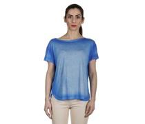 Oversized T-Shirt aus feinem Material dunkelblau