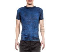 Leinen T-Shirt blau
