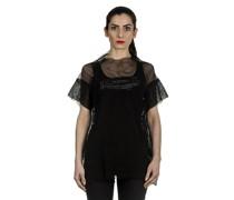 Dip Oversized Shirt mit Print schwarz