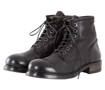 Herren Lammfell Boots RAVELLONE NERO schwarz