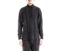 Oversized Rollkragen Pullover schwarz